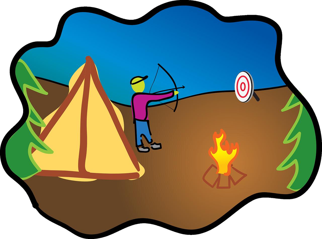 boy scouts, target practice, archery