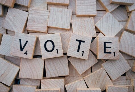 vote, word, letters
