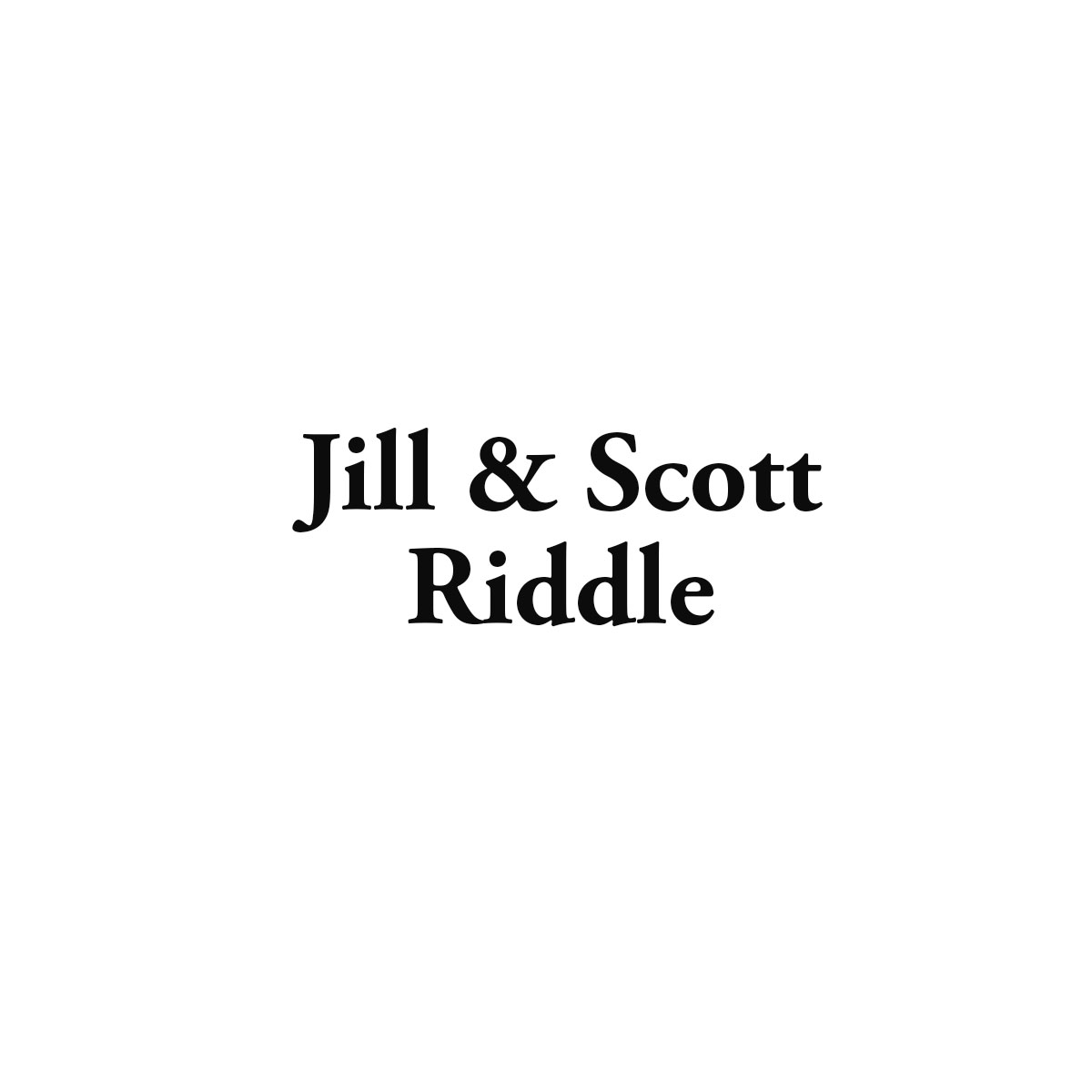 Jill and Scott Riddle