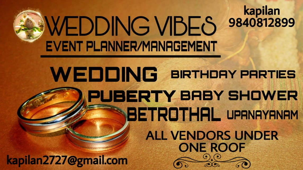 Wedding Vibes Event Planner and Management