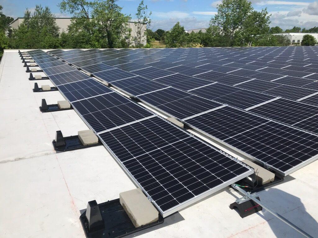 Aztech solar panel setup