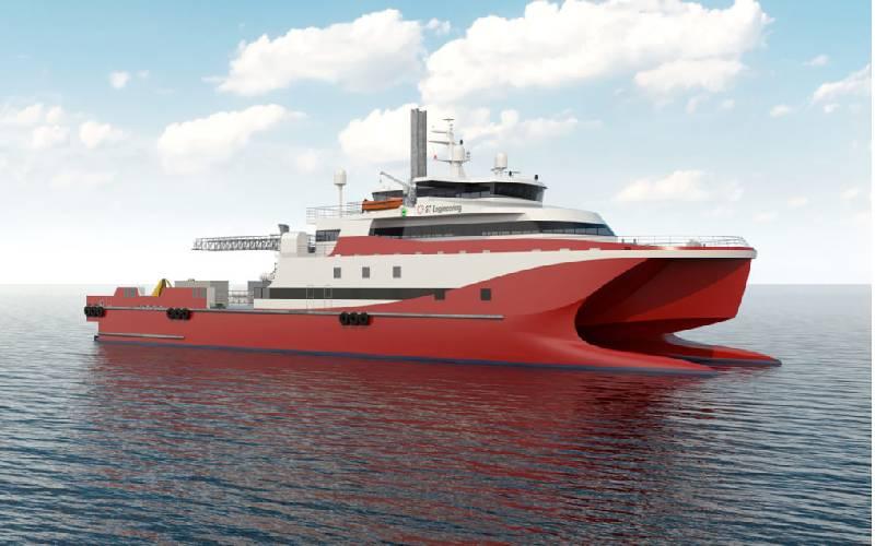 ST Engineering muestra el catamarán impulsado por GNL