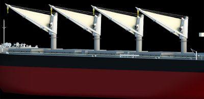 MOL desarrolla nueva vela para propulsar buques