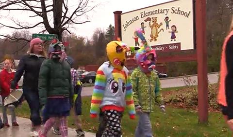 Johnson Elementary School Mask Parade