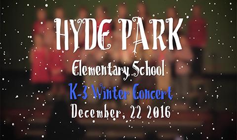 Hyde Park Elementary School K-3 Holiday Concert, 2016