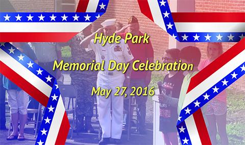 Hyde Park Elementary School, Memorial Day 2016