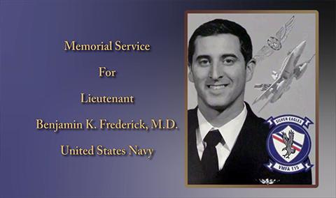 Memorial Service for Lieutenant Benjamin K. Frederick, M.D.