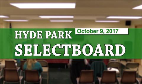 Hyde Park Selectboard, 10/09/17