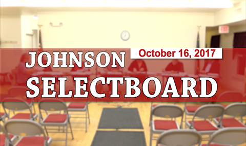 Johnson Selectboard, 10/16/17