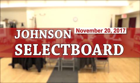 Johnson Selectboard, 11/20/17