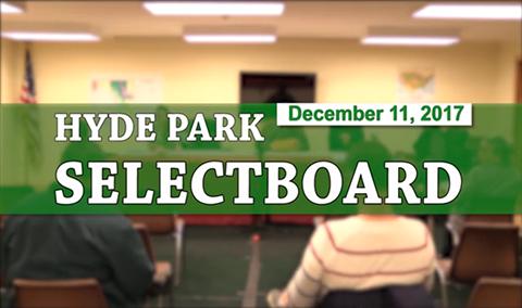 Hyde Park Selectboard, 12/11/17