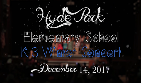 Hyde Park Elementary School Winter Concert, 2017