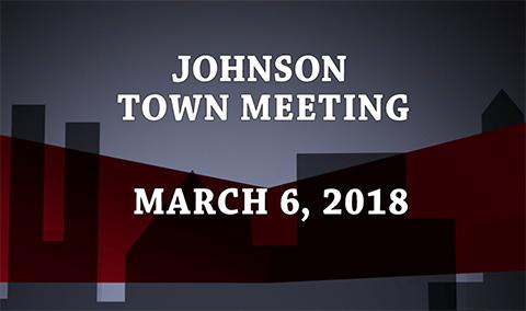 Johnson Town Meeting, 2018