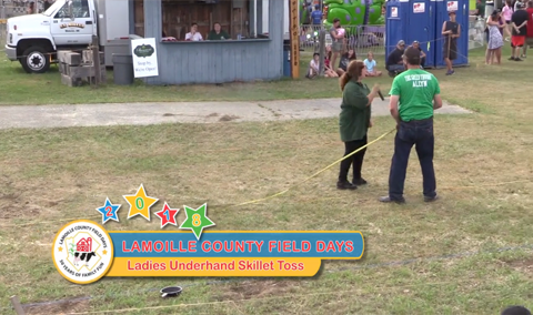 Field Days, 2018 – Ladies Underhand Skillet Toss
