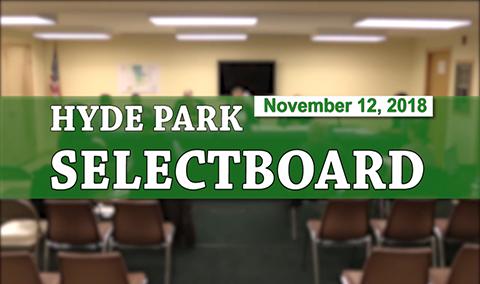Hyde Park Selectboard, 11/12/18