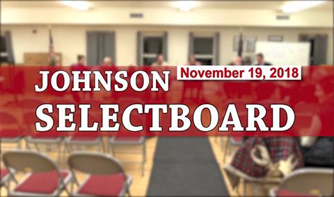 Johnson Selectboard, 11/19/18