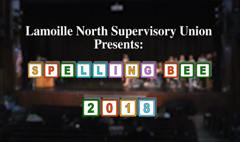 Lamoille North Supervisory Union Spelling Bee, 2018
