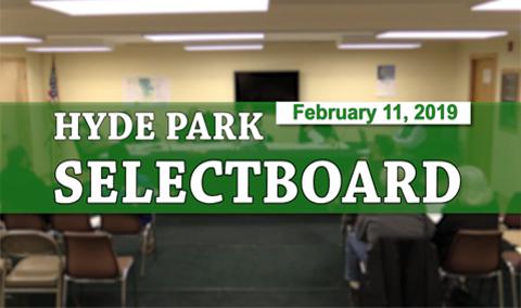 Hyde Park Selectboard, 2/11/19