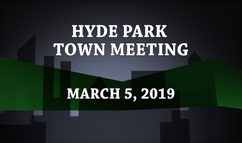 Hyde Park Town Meeting, 2019