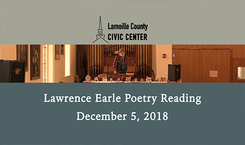 Lawrence Earle Poetry Reading, 12/5/18