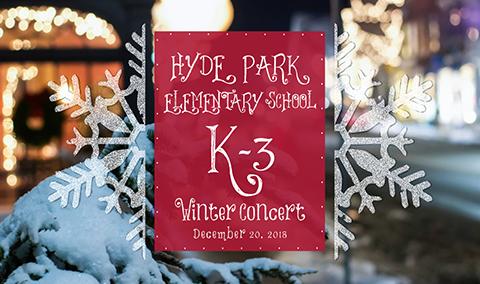 Hyde Park Elementary School K-3 Holiday Concert, 2018