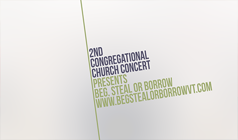 Second Congregational Church – Beg, Steal or Borrow 4/12/19