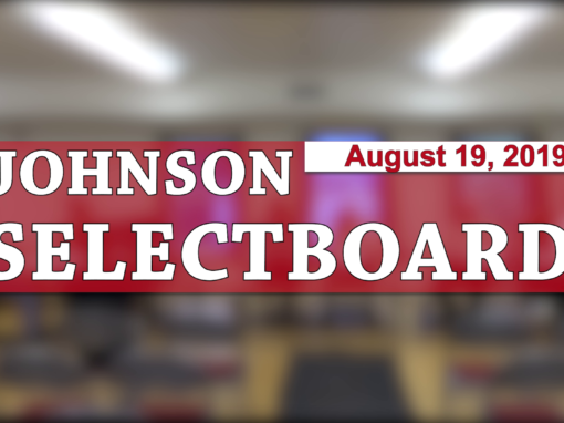 Johnson Selectboard, 8/19/2019