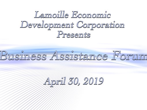 Lamoille Economic Development Corporation, Business Assistance Forum