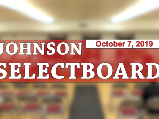 Johnson Selectboard, 10/7/19