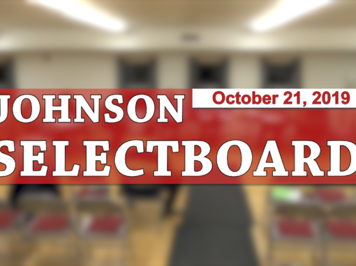 Johnson Selectboard, 10/21/19