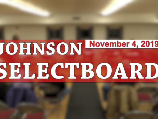Johnson Selectboard, 11/4/19