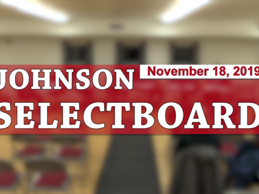Johnson Selectboard, 11/18/19