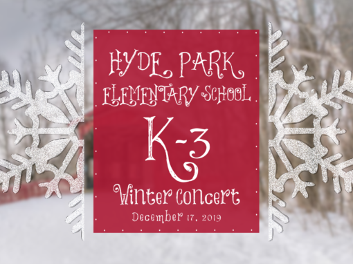 Hyde Park Elementary School Winter Concert, 2019