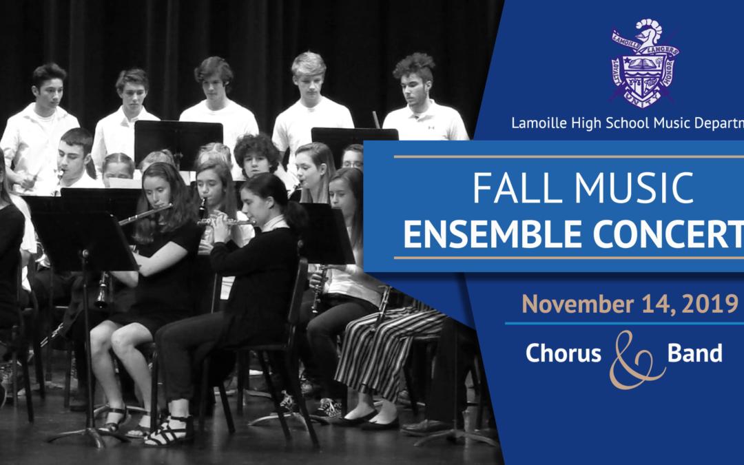 Lamoille Union High School Fall Music Ensemble Concert, 2019