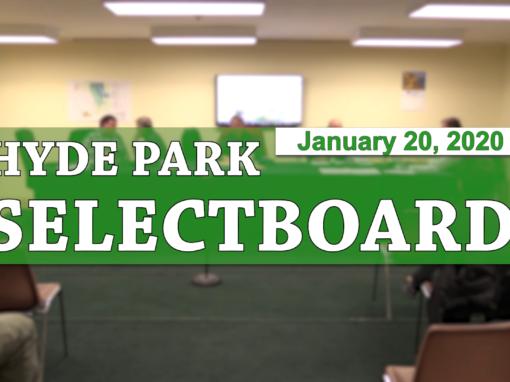 Hyde Park Selectboard, 1/20/20