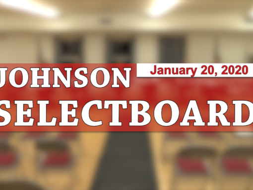 Johnson Selectboard, 1/20/20