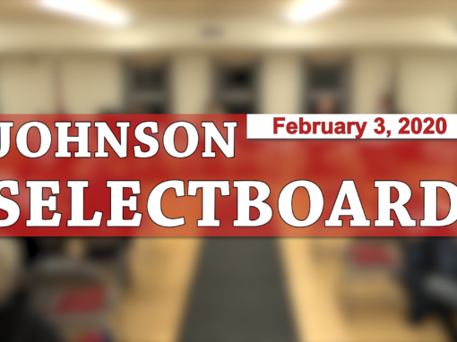 Johnson Selectboard, 2/3/20