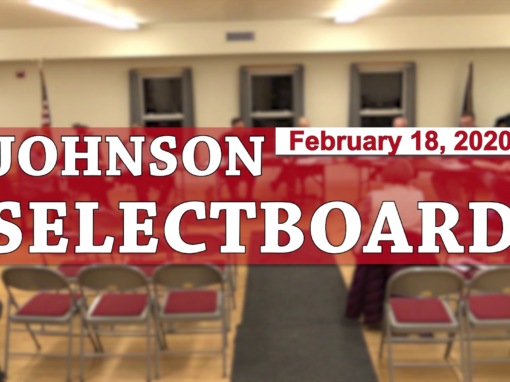 Johnson Selectboard, 2/18/20