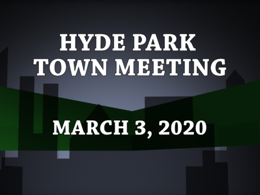 Hyde Park Town Meeting, 2020