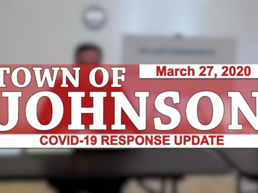 Johnson COVID-19 Response Update #3, 3/27/20