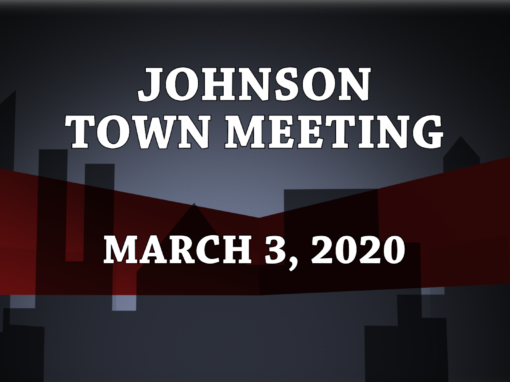Johnson Town Meeting, 2020