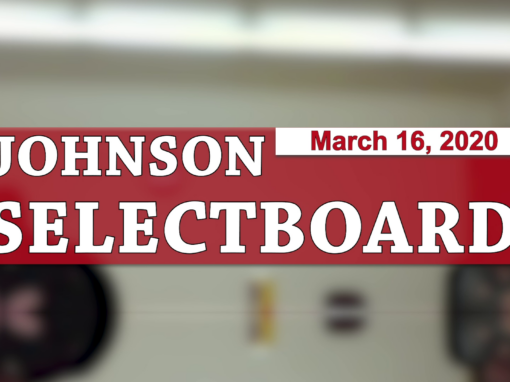 Johnson Selectboard, 3/16/20