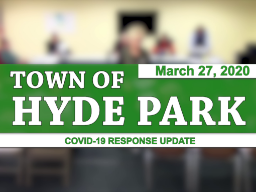 Hyde Park COVID-19 Response Update #1, 3/27/20