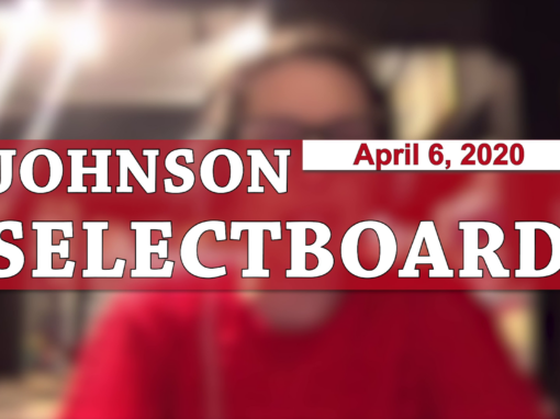 Johnson Selectboard, 4/6/20