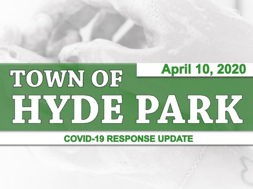 Hyde Park COVID-19 Response Update #3, 4/10/20