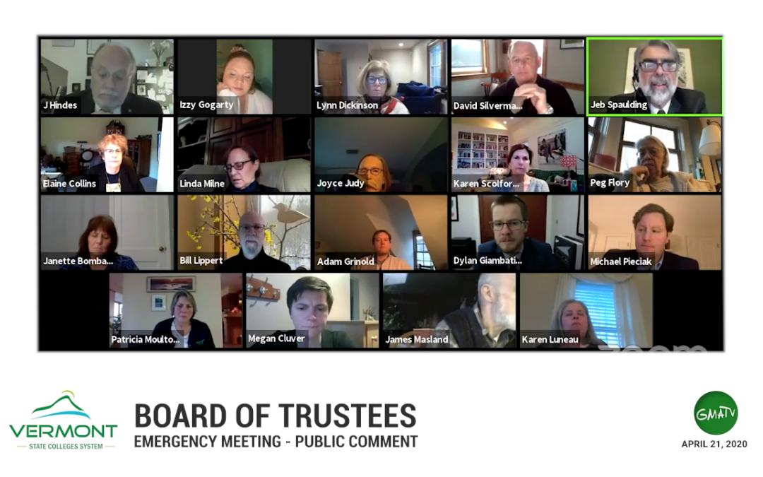 VSCS Board of Trustees Emergency Meeting, 4/21/20