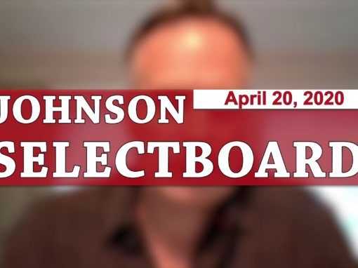 Johnson Selectboard, 4/20/20