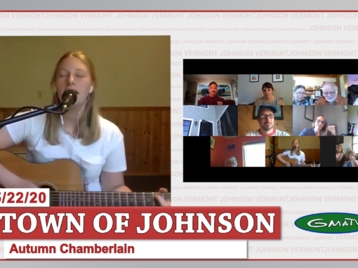 Autumn Chamberlain sings to the Town of Johnson 5/22/20
