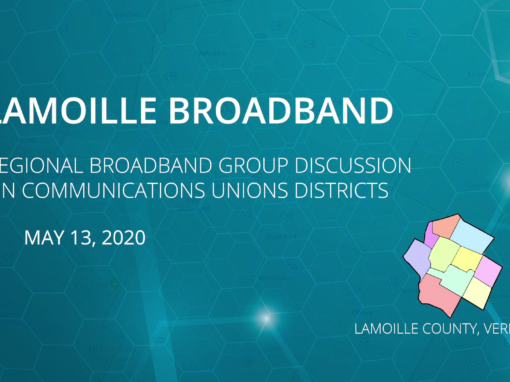 Regional Broadband Group discussion on Communications Union Districts 5/13/20