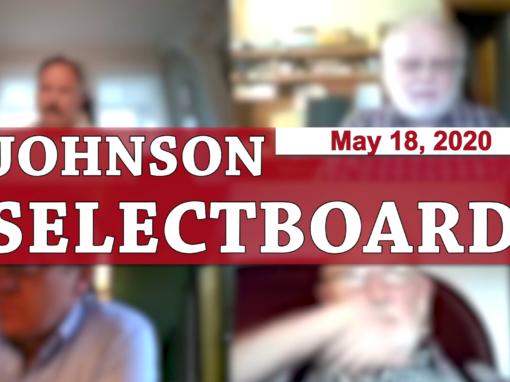 Johnson Selectboard, 5/18/20